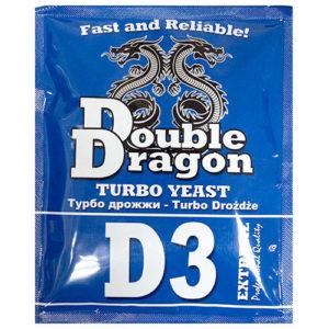 Спиртовые турбо дрожжи DoubleDragon D3 Turbo